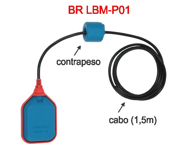 BR LBM-P01 Sensor de Nível Tipo Boia